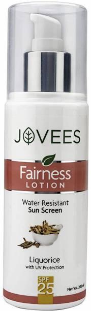 JOVEES Water Resistant Sun Screen Fairness Lotion SPF 25 - SPF SPF 25