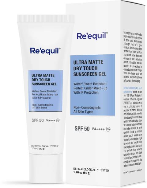 Re'equil Ultra Matte Dry Touch Sunscreen Gel - SPF 50 PA++++
