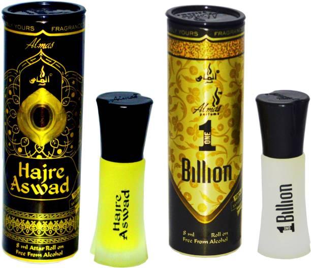 Almas HAJRE ASWAD and 1 BILLION UAE fascinating fragrance pocket Floral Attar
