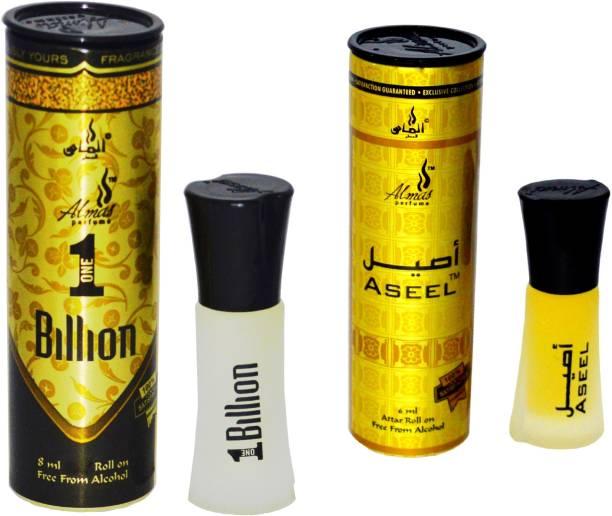 Almas 1 BILLION and ASEEL UAE fascinating fragrance pocket Floral Attar
