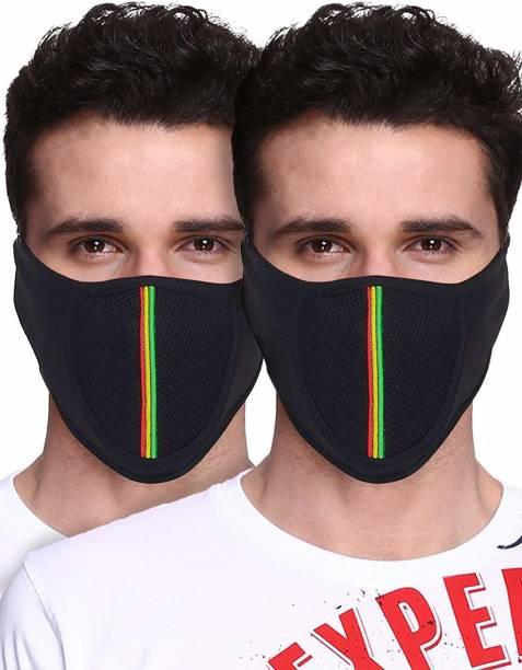 zaysoo Multicolor Bike Face Mask for Men & Women
