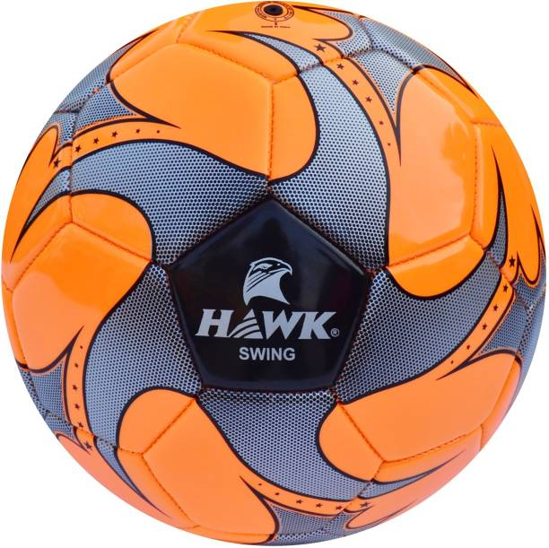 HAWK Swing 4 Football   Size: 4 Pack of 1, Orange