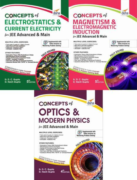 Concepts of Class 12 Physics for JEE Advanced & Main - (Electricity, Magnetism, Optics & Modern Physics) 4th Edition