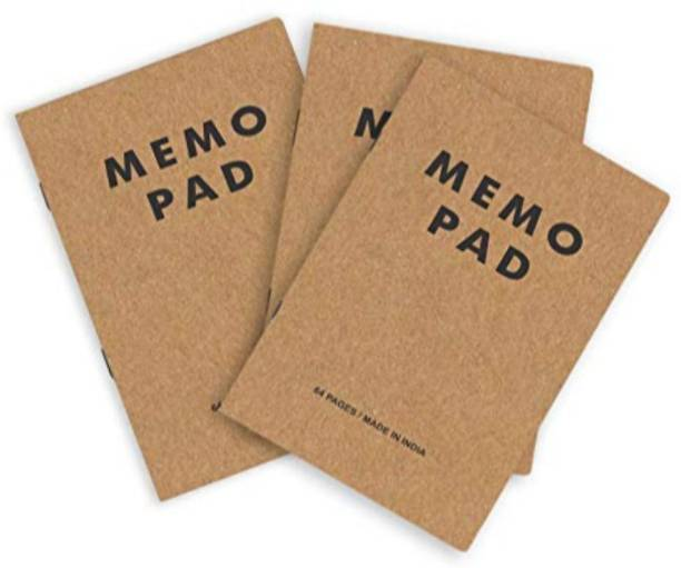 Paper Plane Design Kraft paper cover A6 Memo Pad Checks 64 Pages