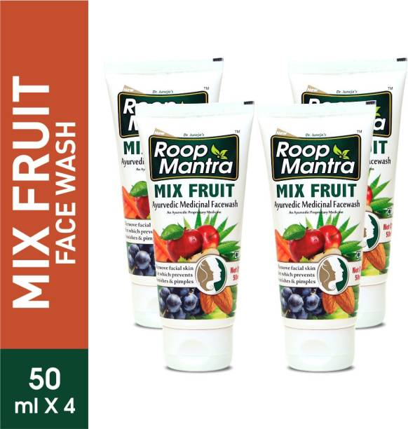 Roop Mantra Mix Fruit  50ml, Pack of 4 -  for Pimples & Blemishes Face Wash