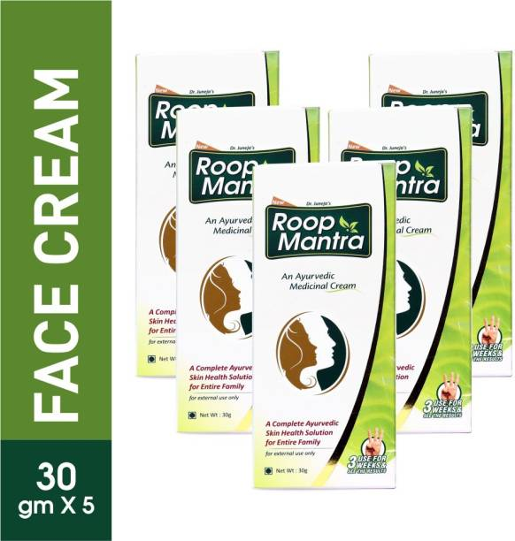 Roop Mantra Ayurvedic Fairness Face Cream 30gm (Pack of 5)