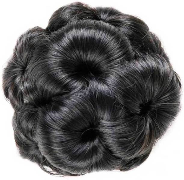 Shining Angel Artificial Bun Decoration Hair Black clutcher for Women And Girls, Pack Of 1 Hair Accessory Set