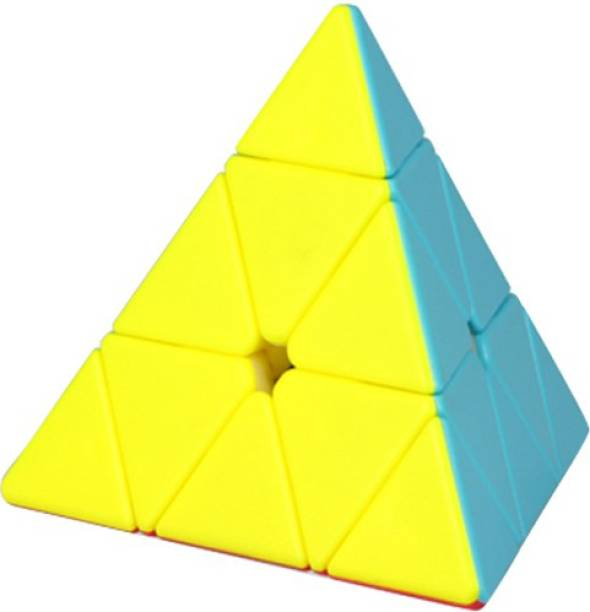 Mickleys Super Smooth Sticker less Pyramid Speed Triangle Cube Magic Cube