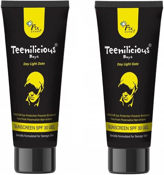 Teenilicious Boys SPF 30 Sun Screen Gel & Anti Tan Face Body Lotion - SPF SPF 30 PA++
