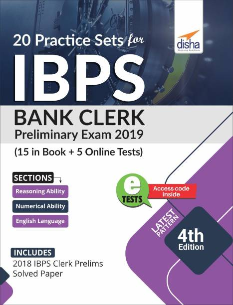 20 Practice Sets for Ibps Bank Clerk 2019 Preliminary Exam - 15 in Book + 5 Online Tests