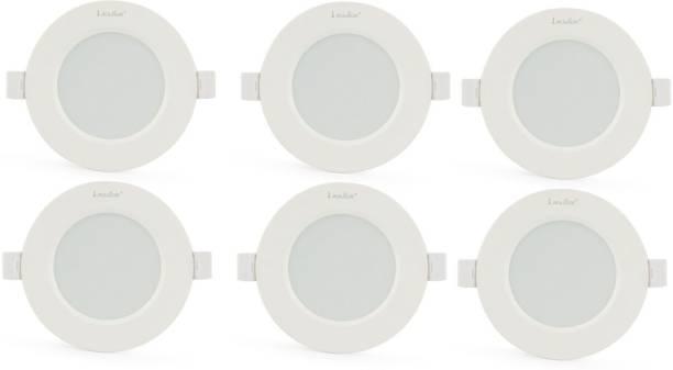 Klick Set Of Six 7-Watt LED Down Light Energy & Money Saving Light - ( Pack Of 6, White) Flush Mount Ceiling Lamp
