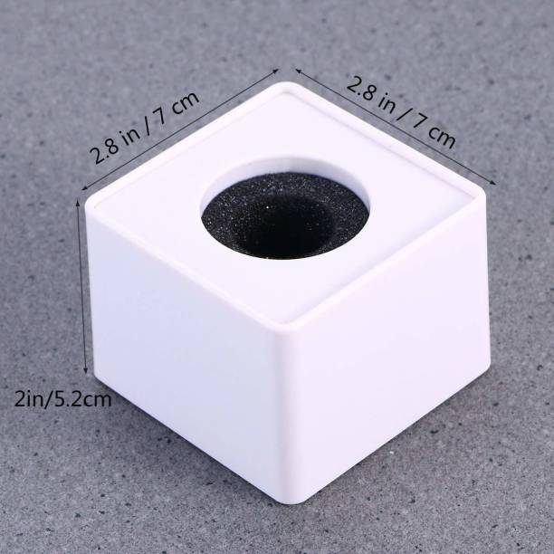 KEKROWN Microphone Station Logo -Square Shape Mic ID White for News Mic, etc. One Mic Id T>R