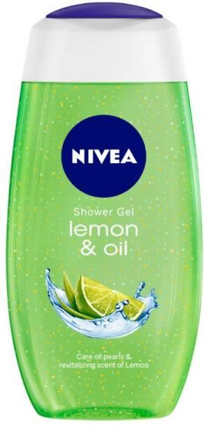 NIVEA Body Wash, Lemon & Oil Shower Gel, Pampering Care with Refreshing Scent of Lemon