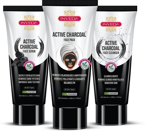 Inveda Blackhead & Detoxifier Charcoal Kit for Women
