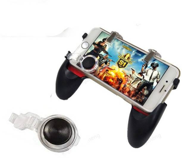 AMUSING New Collection 5-in-1 pubg trigger for mobile    gamepad 5 in 1   best pubg trigger controller joystick with L1 R1 Trigger and 1 pair of analog Stick   Upgraded Version Multi-functional Metal Mobile Gamepad for PUBG/Fortnite/Rules of Survival Gaming Grip and Gaming Joysticks for All Smartphones  Gaming Accessory Kit