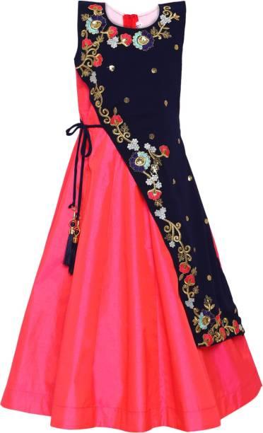 Aarika Girls Maxi/Full Length Party Dress