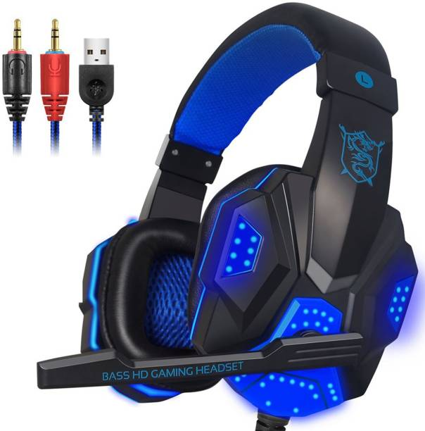 TechGuy4u Gaming Headphones with LEDLight Wired Gaming Headset