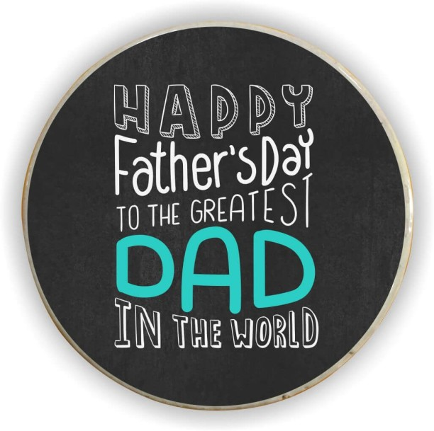 Fathers Day Gift. Worlds Best Dad Fridge Magnet