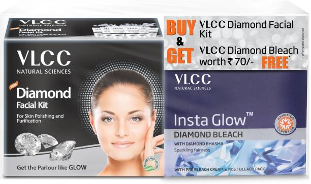 VLCC Diamond facial kit + Insta Glow Diamond Bleach