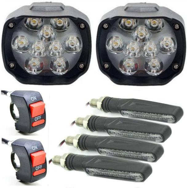 eshopglee LED Fog Lamp Unit for Hero, Honda, Yamaha 4 Series