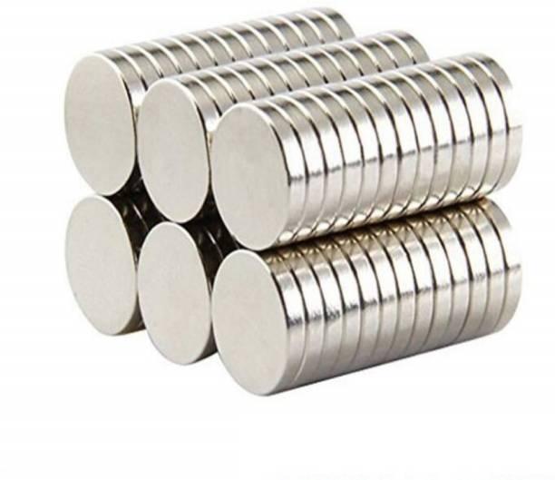 MAGNETICKS 100 Pcs Of 8mm x 1.5mm Disc Shaped High Power Neodymium Magnet Multipurpose Office Magnets Pack of 100