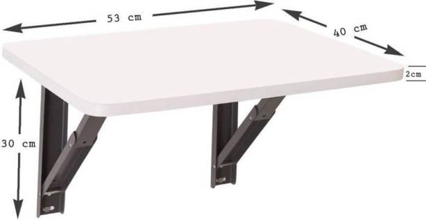 Oximus Study/Laptop /Dining table For Kids + Adult Study Desk Folding / Portable Table Wall mounted L (23.62/ Inch/ 60cm) H(13.8Inch /35Cm) best wall mounted table, for Laptop/study/dining (office table, home table for laptop, office table for laptop, kids table for study) Engineered Wood Office Table