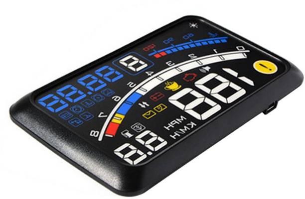 "upwade 5.5"" HD Car HUD Heads Up Display Speed Warning Fuel Consumption OBD2 OBDII EUOBD for Safety Fresh Driving Digital Speedometer"