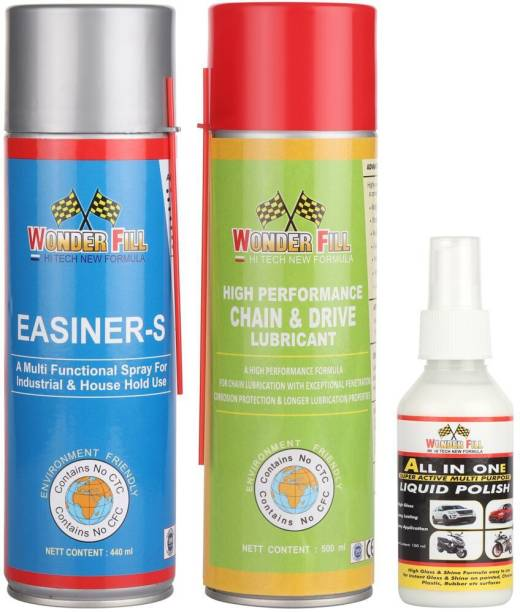 Wonderfill General Maintenance Spray,, chain cleaner lubricant spray, All in one liquid polish Combo