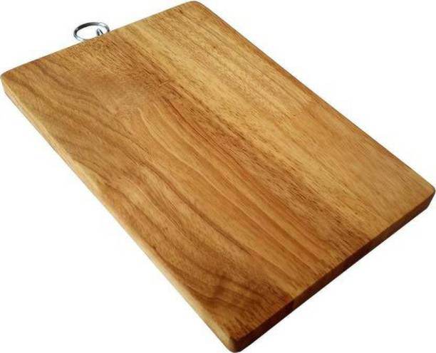 Gjshop Kitchenware Fruit Vegetable Chopping Board Wood Cutting Board (Beige Pack of 1) wbs45 Wooden Cutting Board