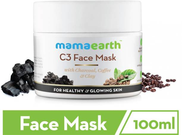 MamaEarth Charcoal, Coffee & Clay Face Mask to Reduce Pigmentation & Skin Lightening