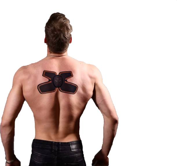 IRIS EMS IRIS ABS Stimulator Muscle Toner, Neck and Back Massager with Deep Tissue Kneading Shoulder Back, 6 Modes & 10 Levels EMS Toning Belt for Neck, Cervical, Legs Massager
