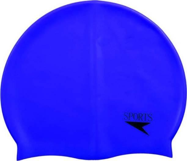 UnyBuy Swimming Silicone Cap For Men, Women, Girls, Boys, Kids Swimming Cap