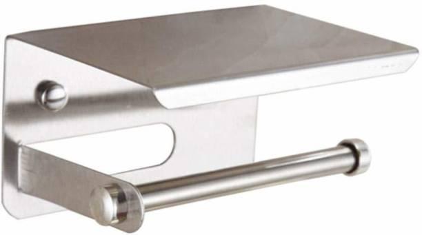 KKD Stainless Steel Toilet Paper Holder Stand Stainless Steel Toilet Paper Holder