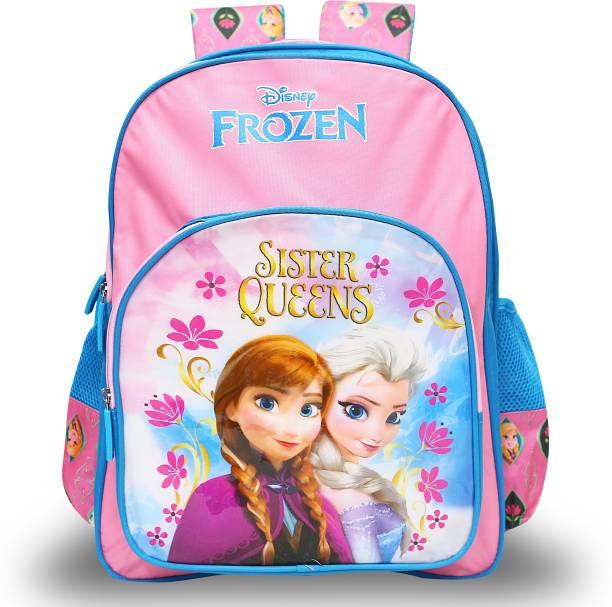 Disney Frozen Frozen Sisters Queen Pink School Bag 36 cm (LKG/UKG/1st std) School Bag