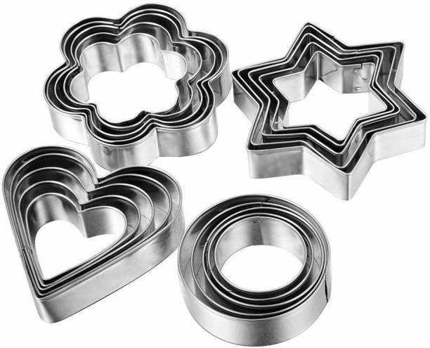 DUNGRANI ENTERPRISE Steel Cookie Cutter for Bakeware Decorating Cookie Cutter (Pack of 12) Cookie Cutter