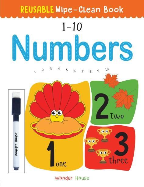 Reusable Wipe and Clean Book 1-10 Numbers - By Miss & Chief