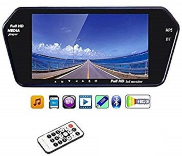 Auto Snap 7 Inch 16:9 TFT LED Car Rearview Monitor Mirror with Touch Button Black LED
