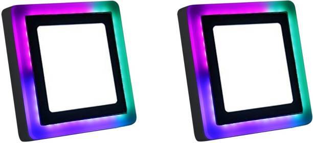 D'Mak 9 Watt Square Surface Dual Multi Color PGB Flush Mount Ceiling Lamp