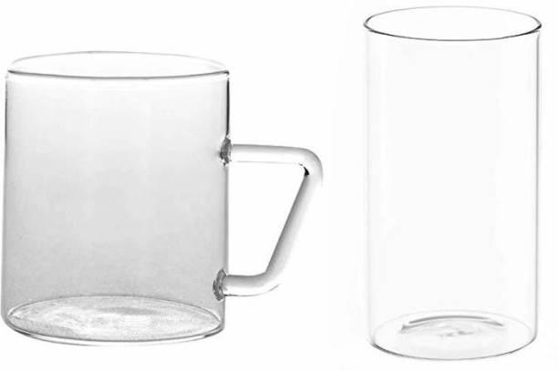 BOROSIL (Pack of 12) CLASSIC MUG SET6+VISION LARGE SET6 Glass