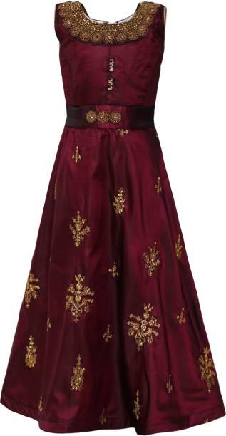 Aarika Indi Girls Maxi/Full Length Party Dress