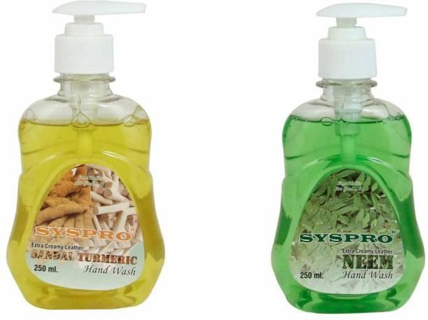 Syspro Combo Of Neem & Sandal Turmeric Handwash Hand Wash Bottle