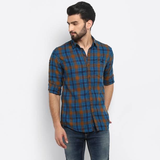 MUFTI Men Checkered Casual Multicolor Shirt