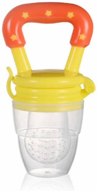 Mojo Galerie Attractive Designed 2 in 1 Fruit feeder & teether with Extra Silicone Mesh with safety Case for Toodlers, 1 Year+ (Star War)  - Silicon