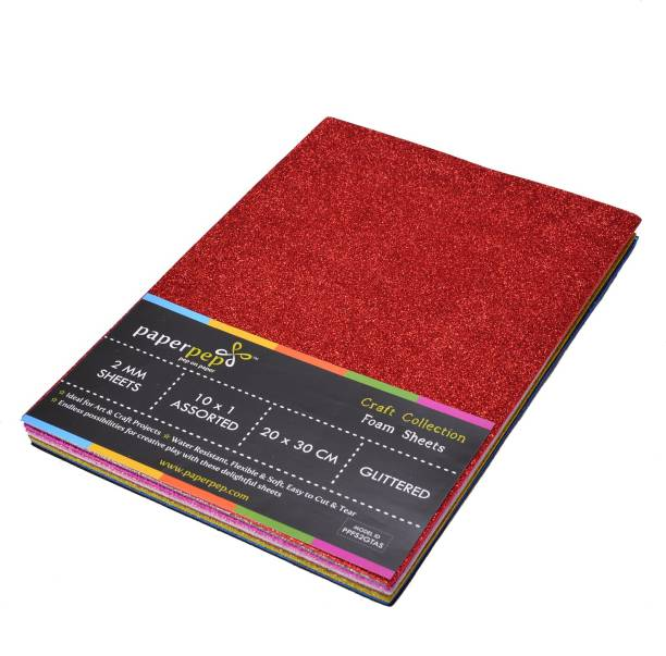 Paper Pep Foam Sheets 2MM Glittered Regular 30 cm Acrylic Sheet