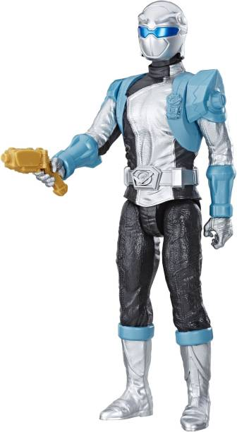 Power Rangers Beast Morphers Silver Ranger 12-inch Action Figure Toy Inspired by the TV Show