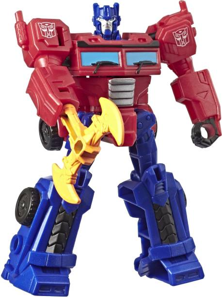 TRANSFORMERS Toys Cyberverse Action Attackers Scout Class Optimus Prime Action Figure - Repeatable Energon Axe Attack Move - For Kids Ages 6 and Up, 3.75-inch