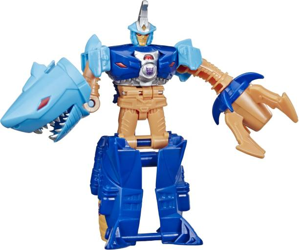 TRANSFORMERS Toys Cyberverse Action Attackers: 1-Step Changer Skybyte Action Figure - Repeatable Driller Drive Action Attack - For Kids Ages 6 and Up, 4.25-inch