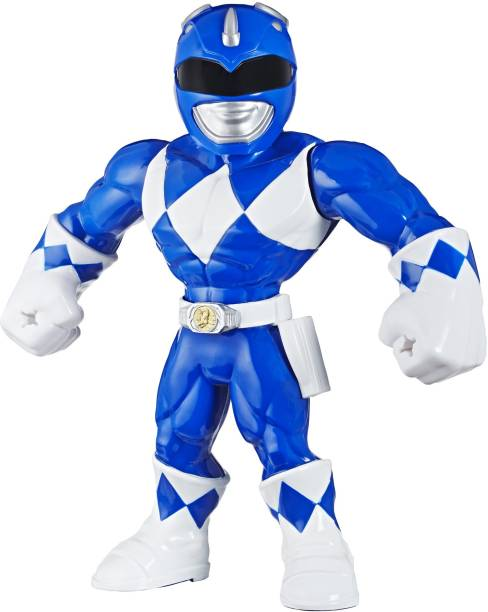 Power Rangers Playskool Heroes Mega Mighties, Mighty Morphin Blue Ranger, 10-inch Figure, Collectible Toys, Kids Ages 3 and Up