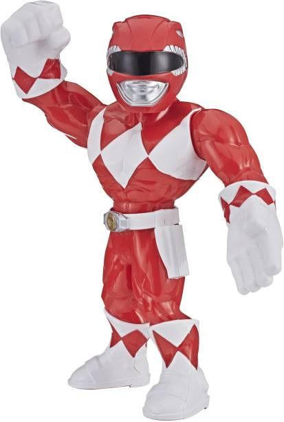 Power Rangers Playskool Heroes Mega Mighties, Mighty Morphin Red Ranger 10-inch Figure, Collectible Toys, Kids Ages 3 and Up