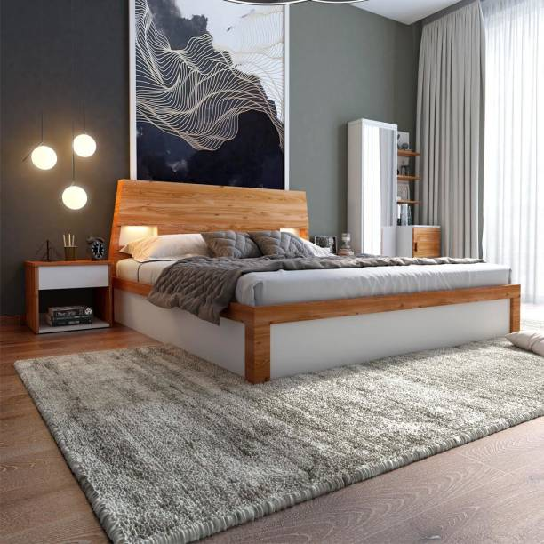 Durian Mark-I Solid Wood Queen Box, Hydraulic Bed